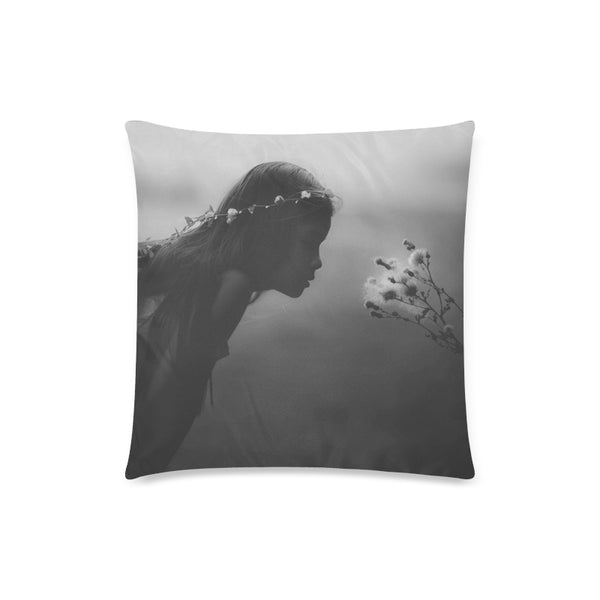 Dreaming Girl Throw Pillow Cover