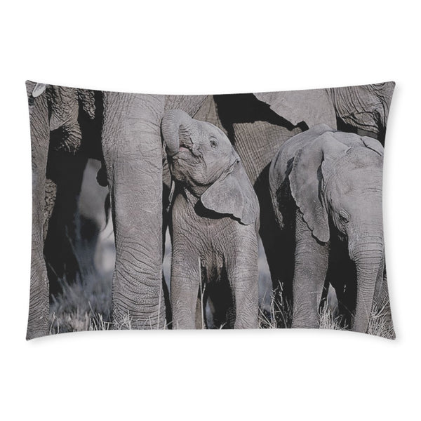Elephant Herd Rectangle Pillow Case