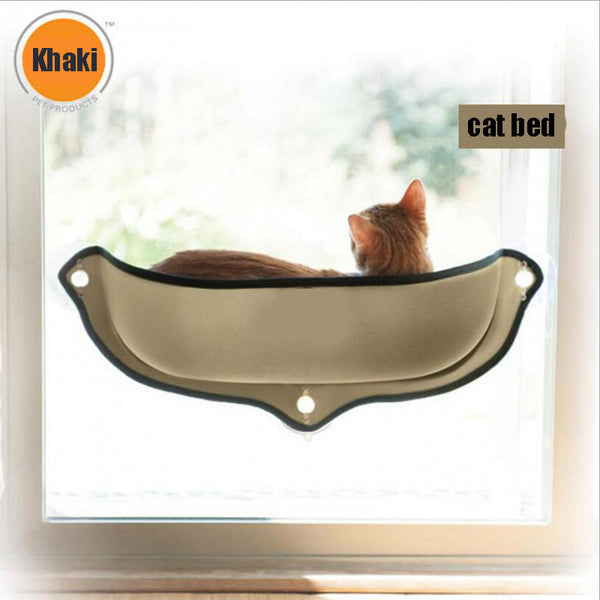 Cat Window bed Mounted Cat Bed Hammock Mat cat Lounger Perch Cushion Hanging Shelf Seat with Suction Cup for Ferret Chinchilla