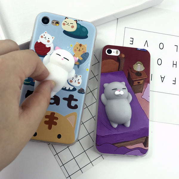 Squishy Cute Cat Phone Case