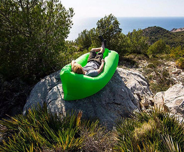 Air Lounger can be inflated anywhere