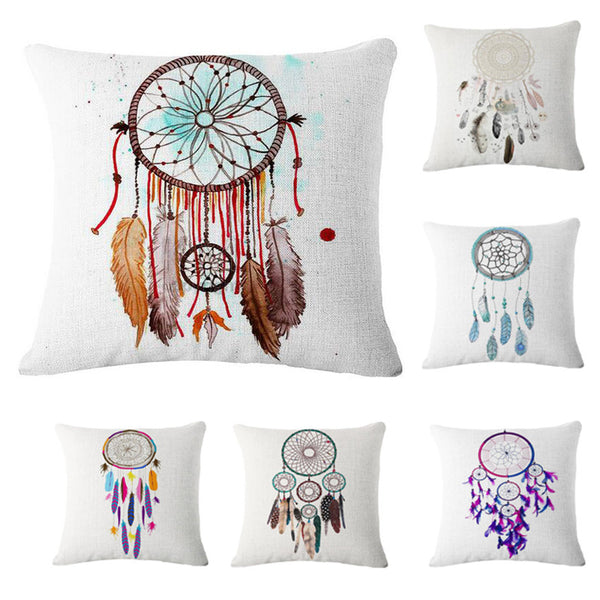 Dream Catcher Linen Throw Pillow Cases