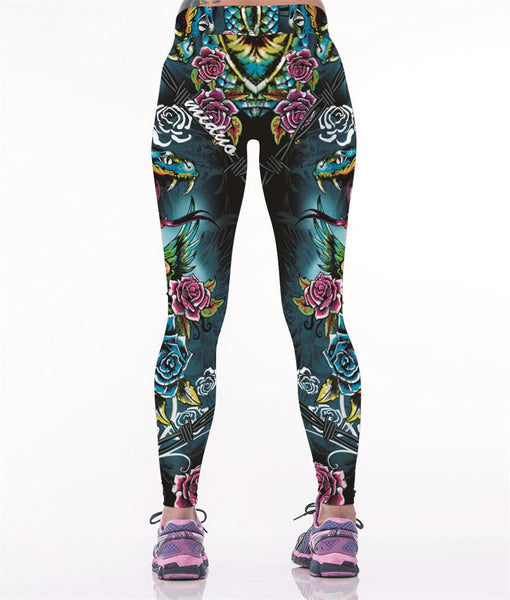 Trendy Snake Leggings