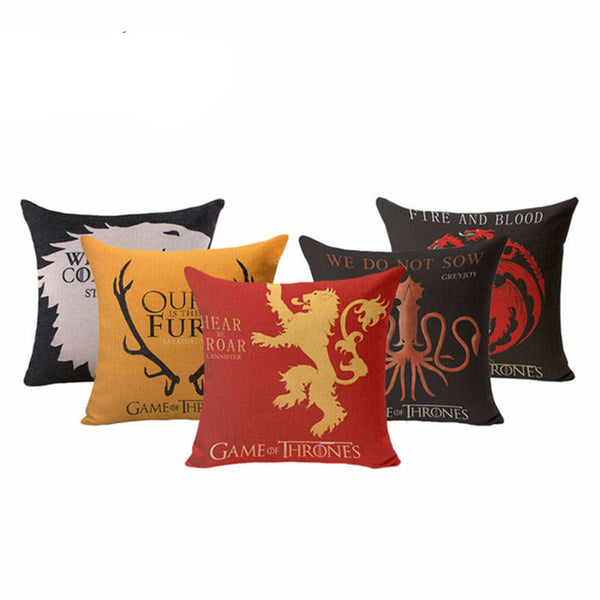 Game of Thrones Houses Pillow Case