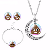 Poop Emoji Jewelry Set