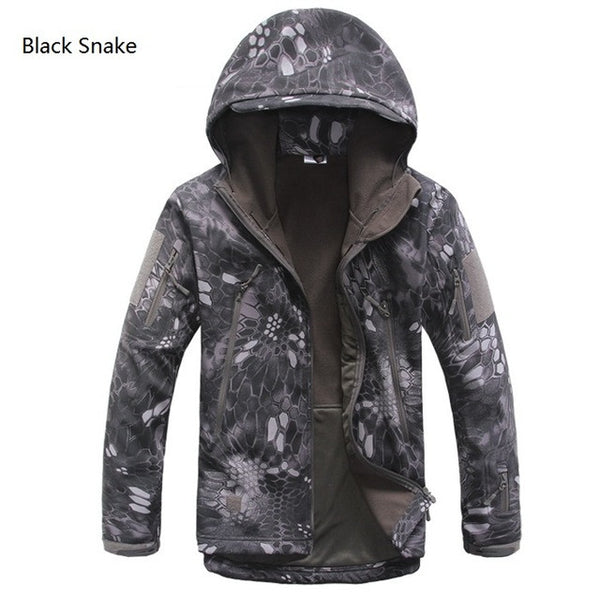 Military Tactical Camo Jacket - Black Snake