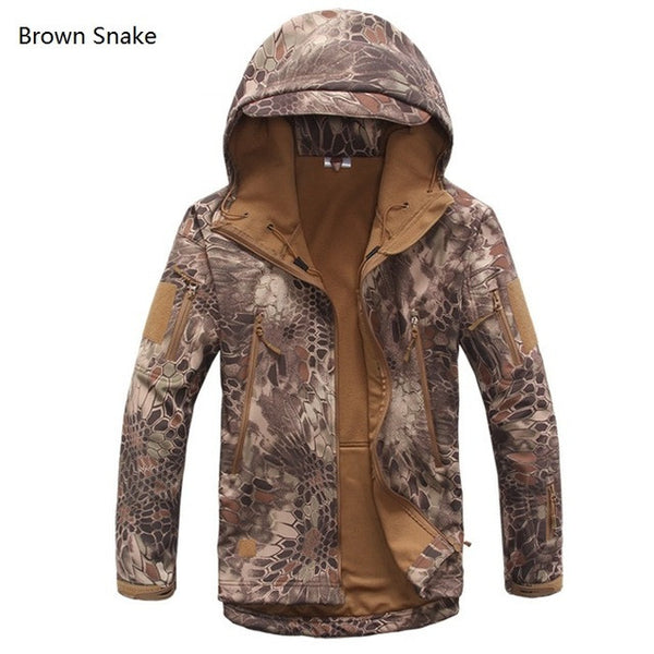 Military Tactical Jacket - Brown Snake