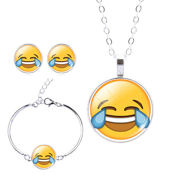 Face With Tears of Joy - Emoji Jewelry Set