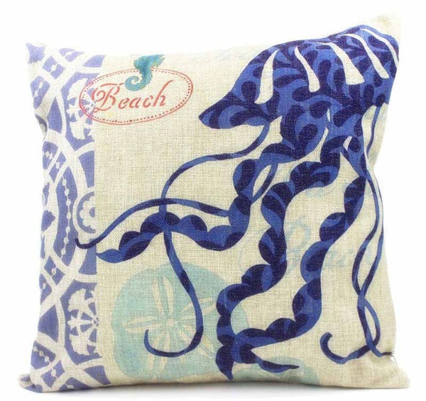 Sea Shell Pattern Throw Pillow Covers