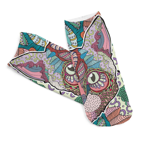 Colorful Sphynx Cat Ankle Socks
