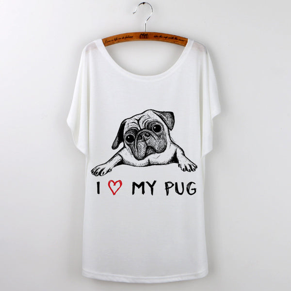 Luv my Pug Women's T-shirts - Sohaila's Boutique of Treasures