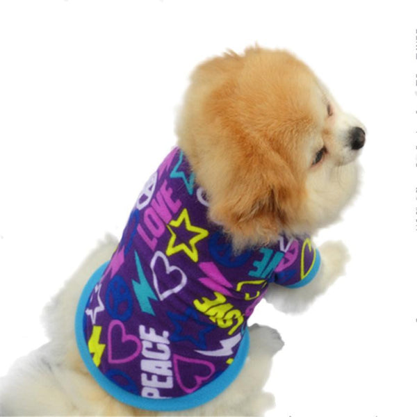Fashionable multi pattern pet cotton shirts