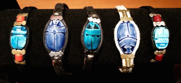Egyptian Scarab Bracelets - Sohaila's Boutique of Treasures
