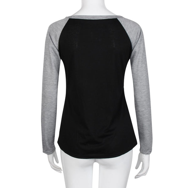 BLESSED  Womens Long Sleeve O-neck T-Shirt - Sohaila's Boutique of Treasures