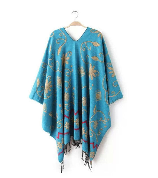 The Flower Poncho Cape