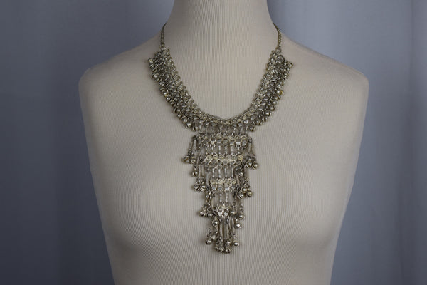 Silver bell Egyptian necklace - Sohaila's Boutique of Treasures