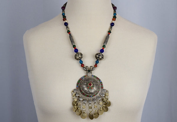Egyptian Ethnic beaded necklace - Sohaila's Boutique of Treasures