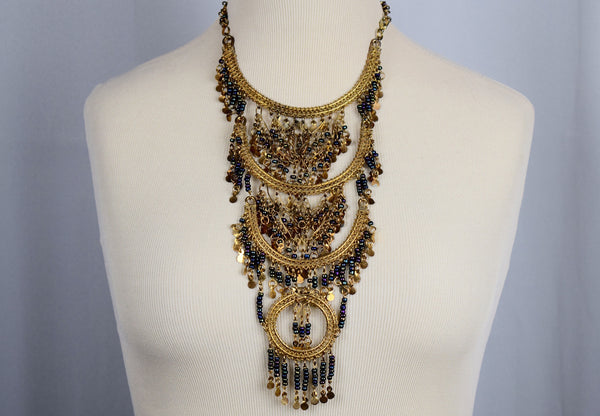The Egyptian Neptune 3 tier necklace - Sohaila's Boutique of Treasures