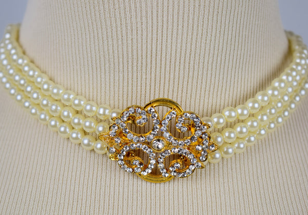 "The fine ""Pearl-fection"" Choker necklace - Sohaila's Boutique of Treasures"