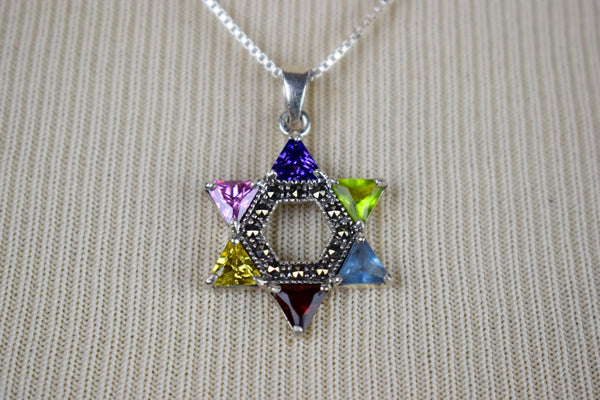 Sterling Silver 'Star of David' with rhinestones