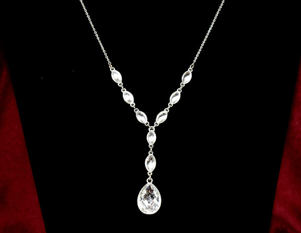 Beautiful glass tiered necklace with complimenting earrings