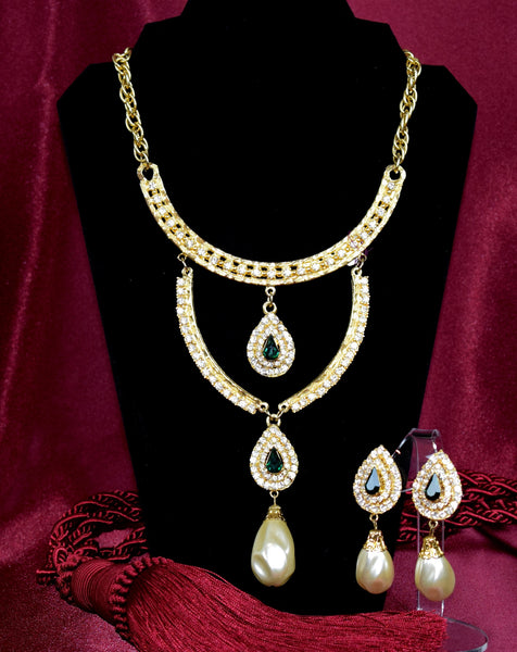 'The Concord' Necklace and Earring set - Sohaila's Boutique of Treasures
