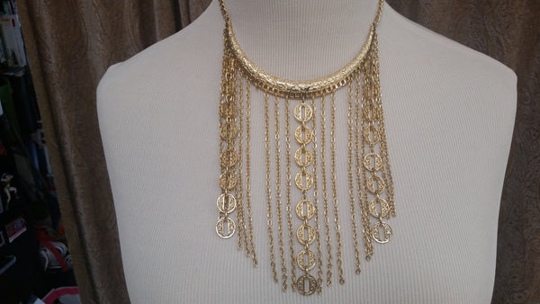 Beautiful gold choker necklace - Sohaila's Boutique of Treasures