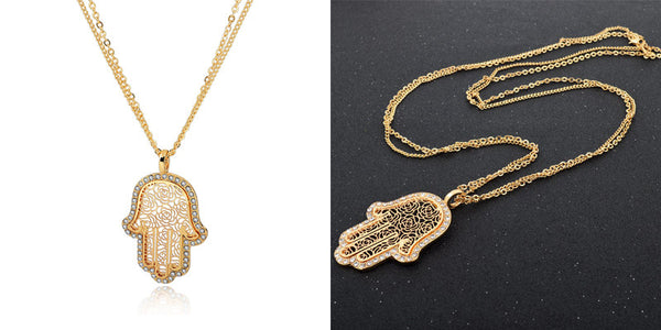 Long 18K Gold Crystal Necklaces