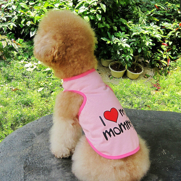 I Love My Mommy / Daddy pet t-shirt - Sohaila's Boutique of Treasures
