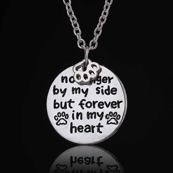 """No Longer by My Side But Forever In My Heart""  Necklace - Sohaila's Boutique of Treasures"