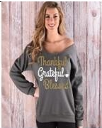 Long Sleeve Jewel sweat shirt - Sohaila's Boutique of Treasures