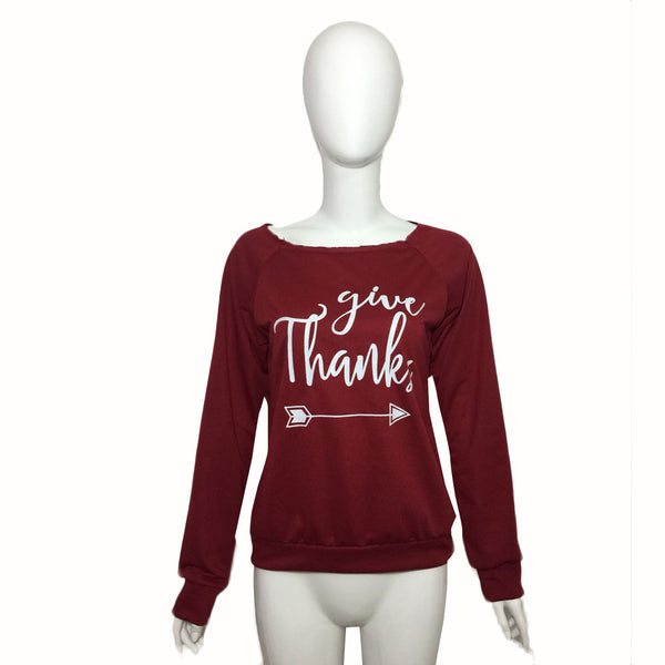 'Give Thanks' Pullover sweatshirt - Sohaila's Boutique of Treasures
