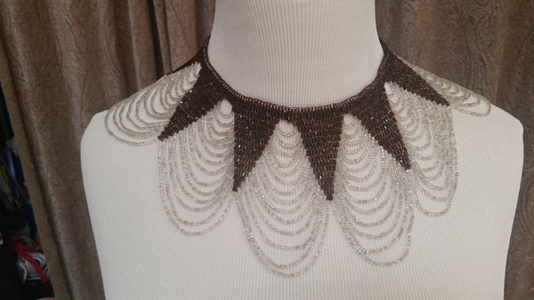 Antique beaded choker necklace
