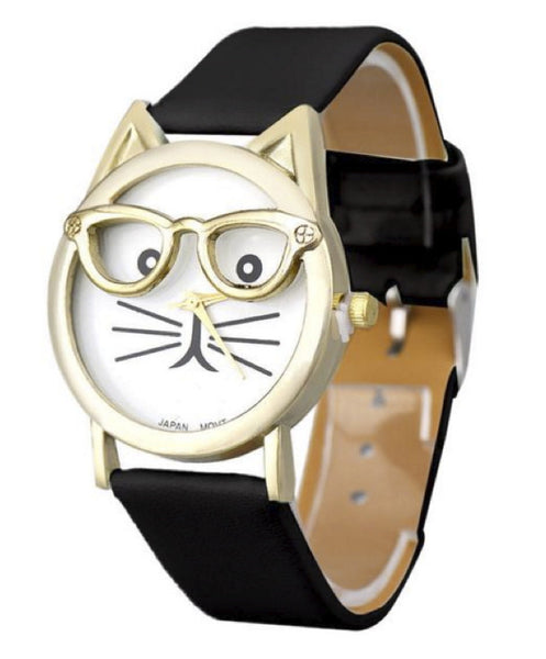 Purr-fect Cat's Glasses Watch
