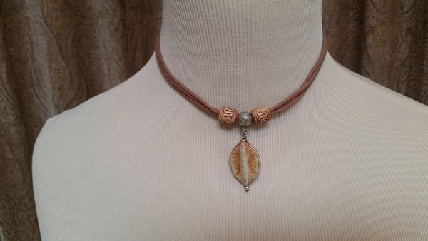 Leather and pendent choker necklaces - Sohaila's Boutique of Treasures