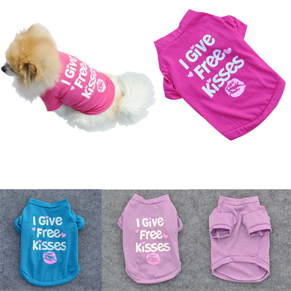 """I Give Free Kisses"" Pet T-shirt"