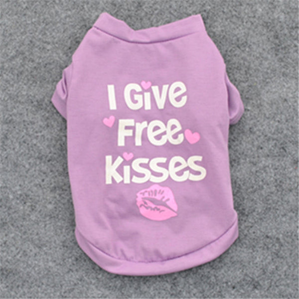 """I Give Free Kisses"" Pet T-shirt - Sohaila's Boutique of Treasures"