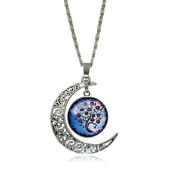 Beautiful Tree of Life Glass Pendant Necklace - Sohaila's Boutique of Treasures