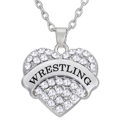 Sporty wrestling necklace