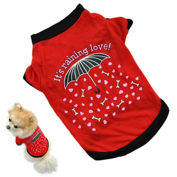 """It's raining Love"" Pet T-shirt - Sohaila's Boutique of Treasures"