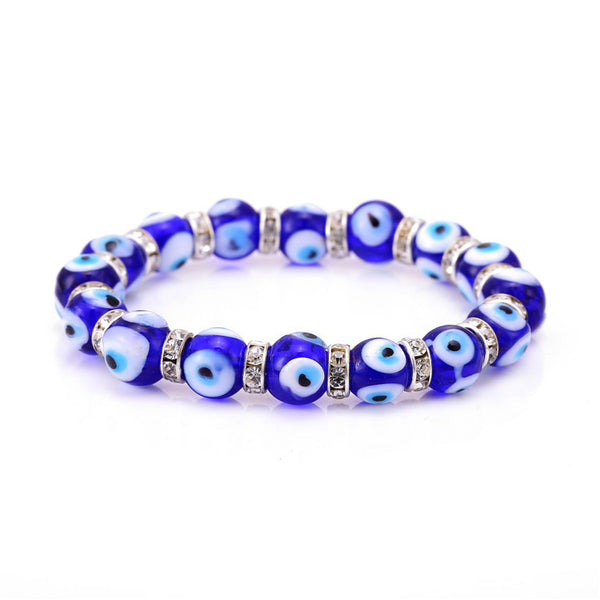 Good luck protection Evil Eye Glass Bead Bracelet - Sohaila's Boutique of Treasures