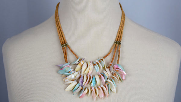 Fun multi color shell necklace