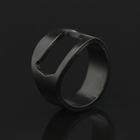 Mens Steel Bottle Opener Ring