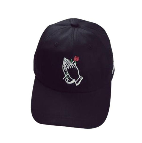 Praying Hands Rose Summer Cap