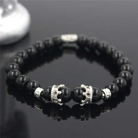 Kings Crown I Onyx Bracelet
