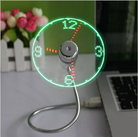 Mini LED  USB Fan Clock