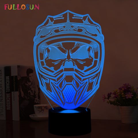 Helmet LED 3D Night  Lamp - Discount Storehouse