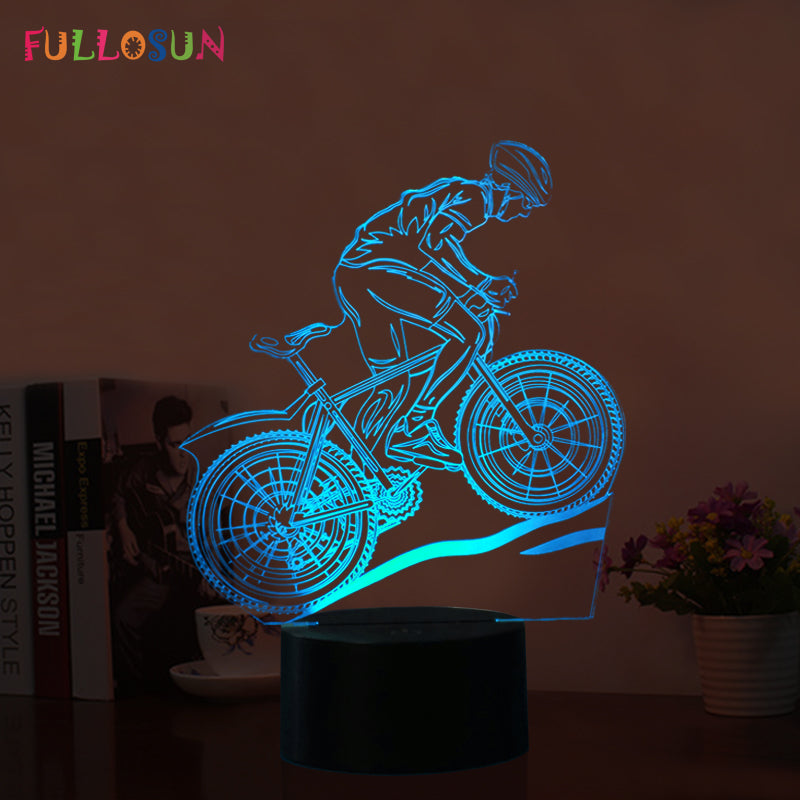 USB LED 3D Lamp Mountain Bike - Discount Storehouse