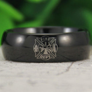 Fireman FireFighter Wedding Ring - Discount Storehouse