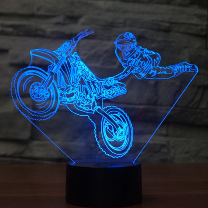 Motorcycle stunt  3D Lamp - Discount Storehouse